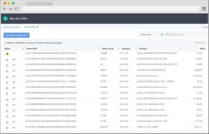 monitor nfe lista de XML arquivados